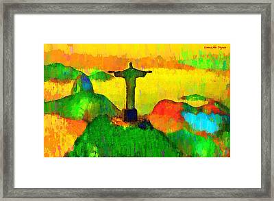 Christ The Redeemer In Rio 4 - Pa Framed Print