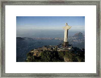 Christ The Redeemer Statue Framed Print