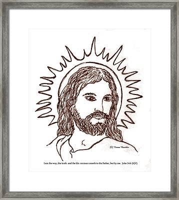 Christ The Savior Framed Print by Norma Boeckler