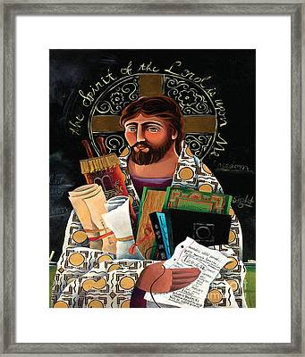 Christ The Teacher - Mmctt Framed Print