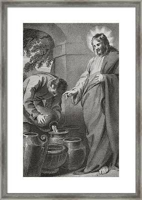 Christ Turning Water Into Wine, From Framed Print