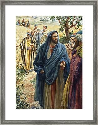 Christ With His Disciples Framed Print by Henry Coller