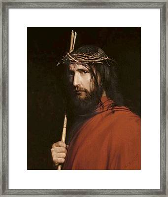 Christ With Thorns Framed Print by Carl Heinrich Bloch