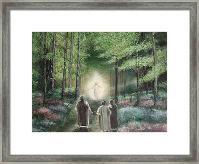 Christ With Us Framed Print by Charles Roy Smith