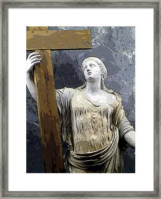 Christain Martyr Framed Print by Mindy Newman