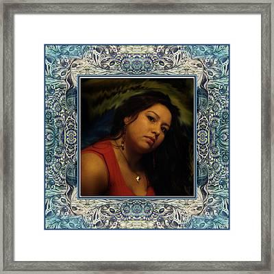 Christan Cameo Framed Print by Otto Rapp