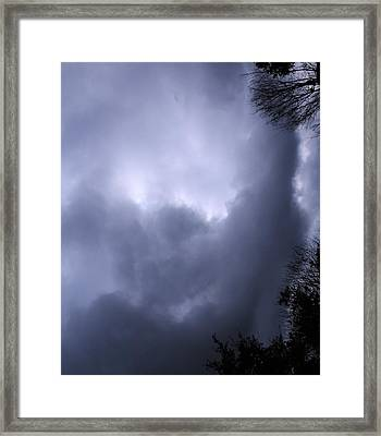 Christed Clouds Framed Print by SeVen Sumet