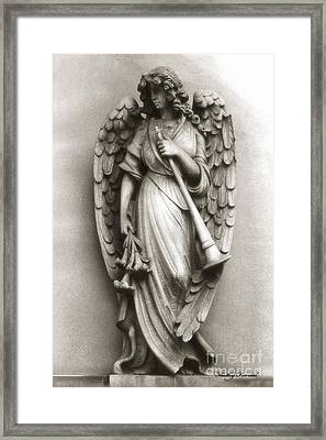 Christian Angel Art Photos - Archangel Gabriel Angel Art Photography Framed Print