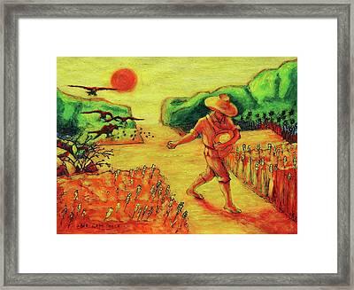 Christian Art Parable Of The Sower Artwork T Bertram Poole Framed Print by Thomas Bertram POOLE