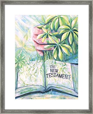 Christian Artist Rooted In The Word Framed Print by Renee Dumont  Museum Quality Oil Paintings  Dumont