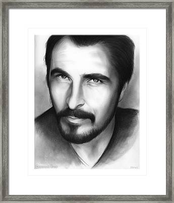 Christian Bale Framed Print by Greg Joens