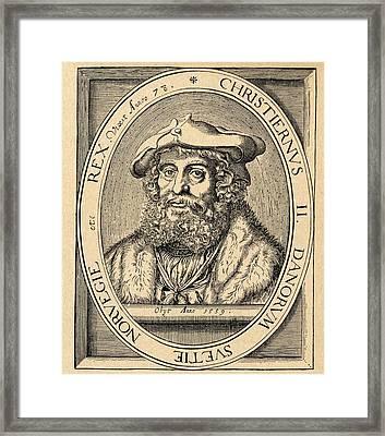 Christian II 1481 Framed Print by Vintage Design Pics