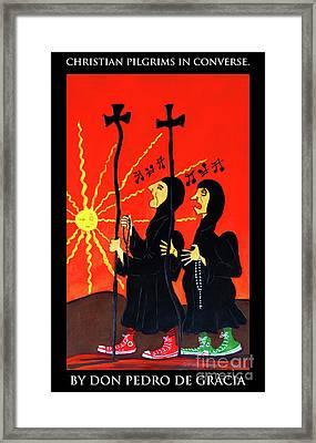 Christian Pilgrims In Converse Framed Print
