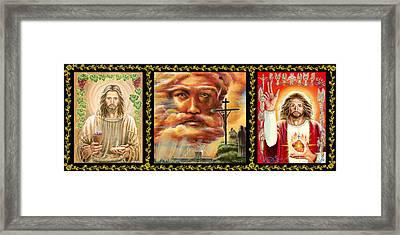 Christian Triptych Framed Print by Jenny McLaughlin