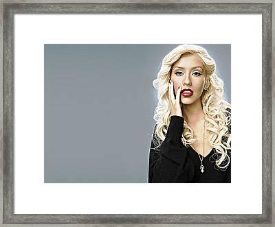 Christina Aguilera Framed Print