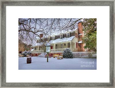 Christina Campbell Tavern Colonial Williamsburg Framed Print