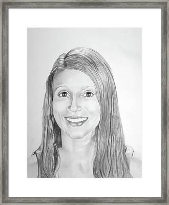 Framed Print featuring the drawing Christina by Mayhem Mediums