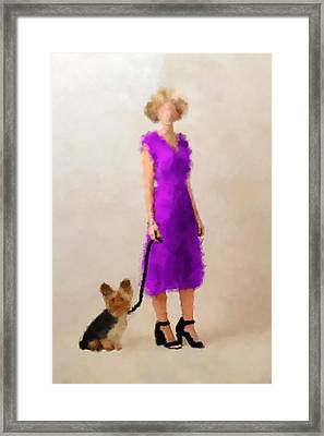 Framed Print featuring the digital art Christina by Nancy Levan