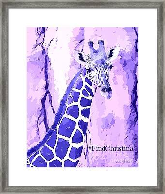 Christina's Giraffe Framed Print