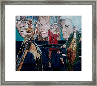 Framed Print featuring the painting Christine Anderson Concert Fantasy by Bryan Bustard