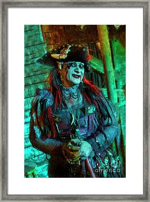 Christine Campiotti And Hunted House Framed Print