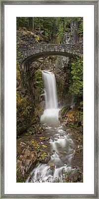 Christine Falls Mt Rainier Washington Framed Print by Steve Gadomski