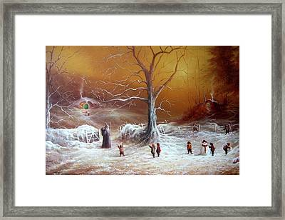 A Shire Christmas  Framed Print