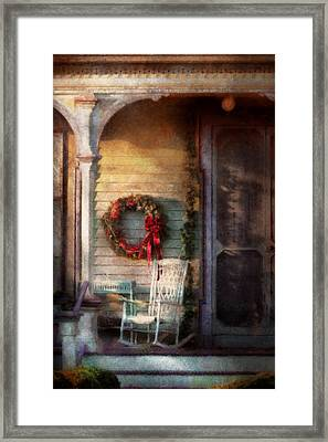 Christmas - Christmas Is Right Around The Corner Framed Print