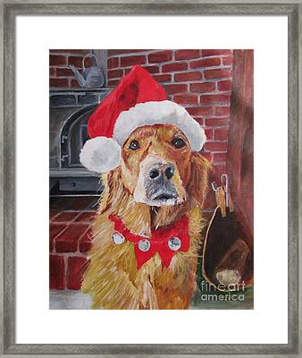 Christmas Again? Framed Print by Barbara Moak