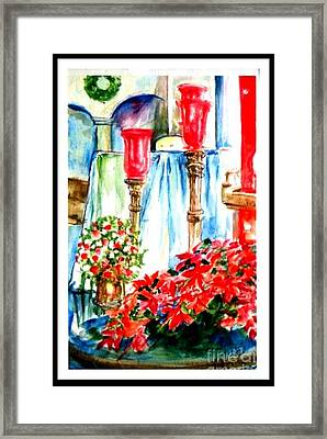 Christmas Altar At St Peters And Pauls Framed Print by Patricia Ducher