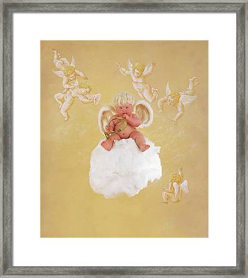 Christmas Angel Framed Print by Anne Geddes