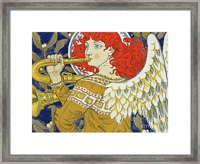 Christmas Angel Framed Print by Eugene Grasset