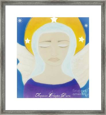 Christmas Angel Framed Print by Sacred  Muse