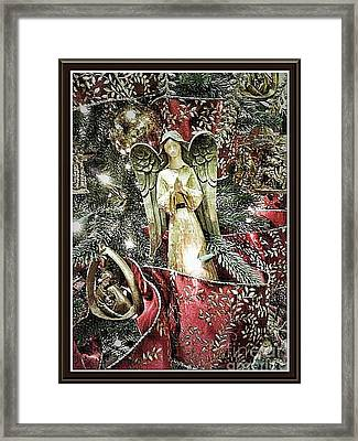 Christmas Angel Greeting Framed Print