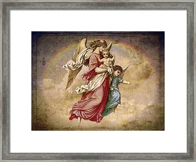Christmas Angels And Baby Framed Print