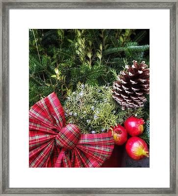 Christmas Arrangement Framed Print