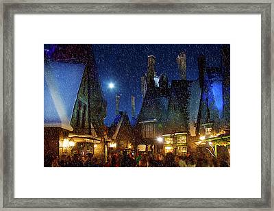 Christmas At Hogsmeade Blank Framed Print