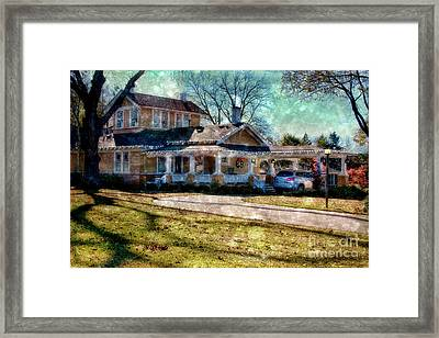 Christmas At Home Framed Print by Joan Bertucci
