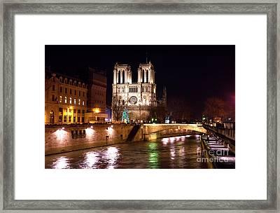 Christmas At Notre Dame Framed Print