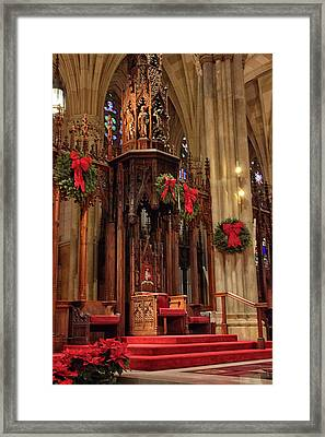 Christmas At  St. Patrick's Framed Print