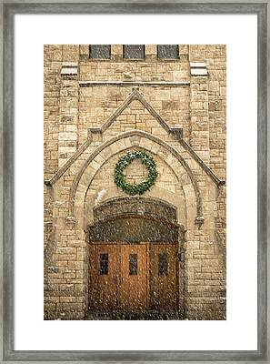 Christmas At Stone Chapel Framed Print