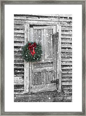 Christmas At The Farm Framed Print