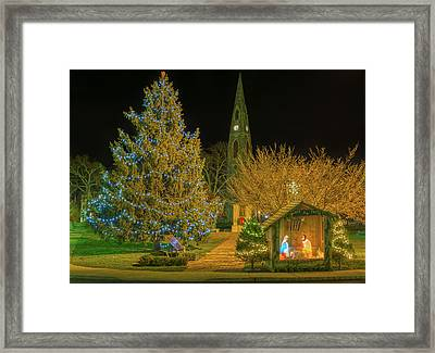 Christmas At The Historic District Of Goshen New York Framed Print