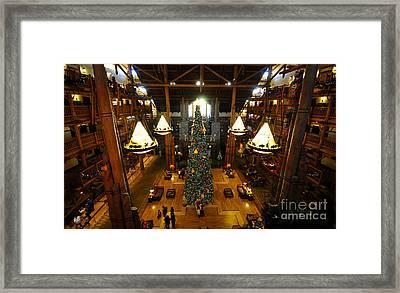 Christmas At The Lodge Framed Print
