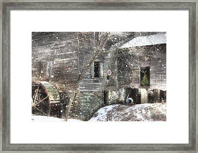 Christmas At Cook's Mill Framed Print
