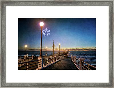 Christmas At The Pier Framed Print by Ann Patterson