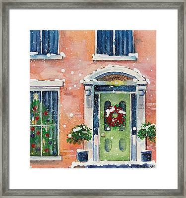 Christmas At The Rectory Framed Print
