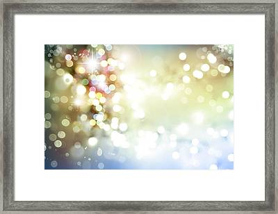 Christmas Background Framed Print by Les Cunliffe