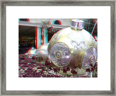 Christmas Balls 3d Framed Print by Joel Gilgoff