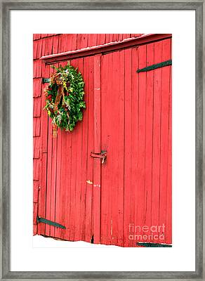 Christmas Barn Framed Print by John Rizzuto